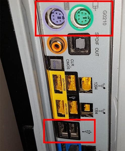 motherboard ps2 connectors