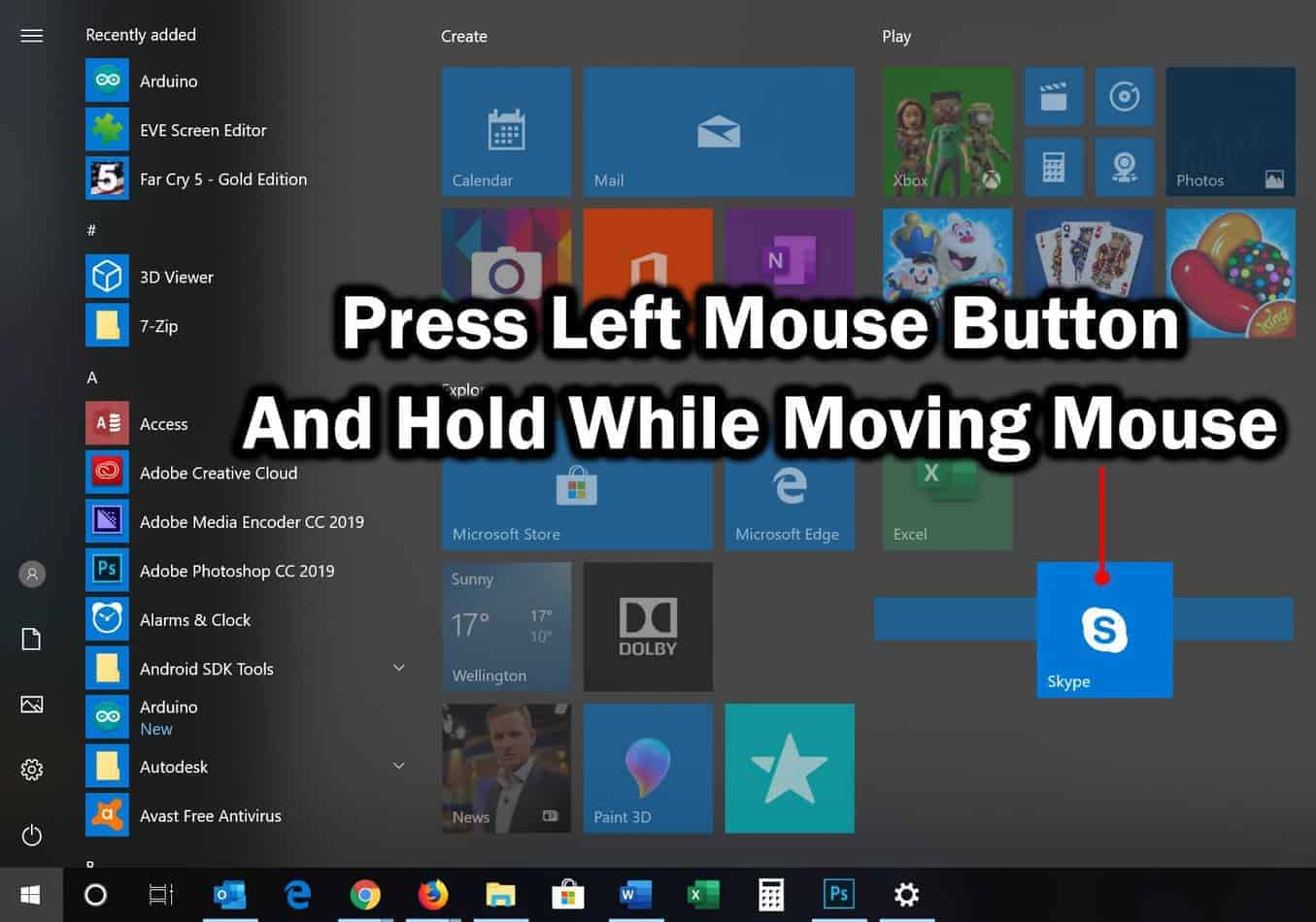 how to arrange programs in start menu