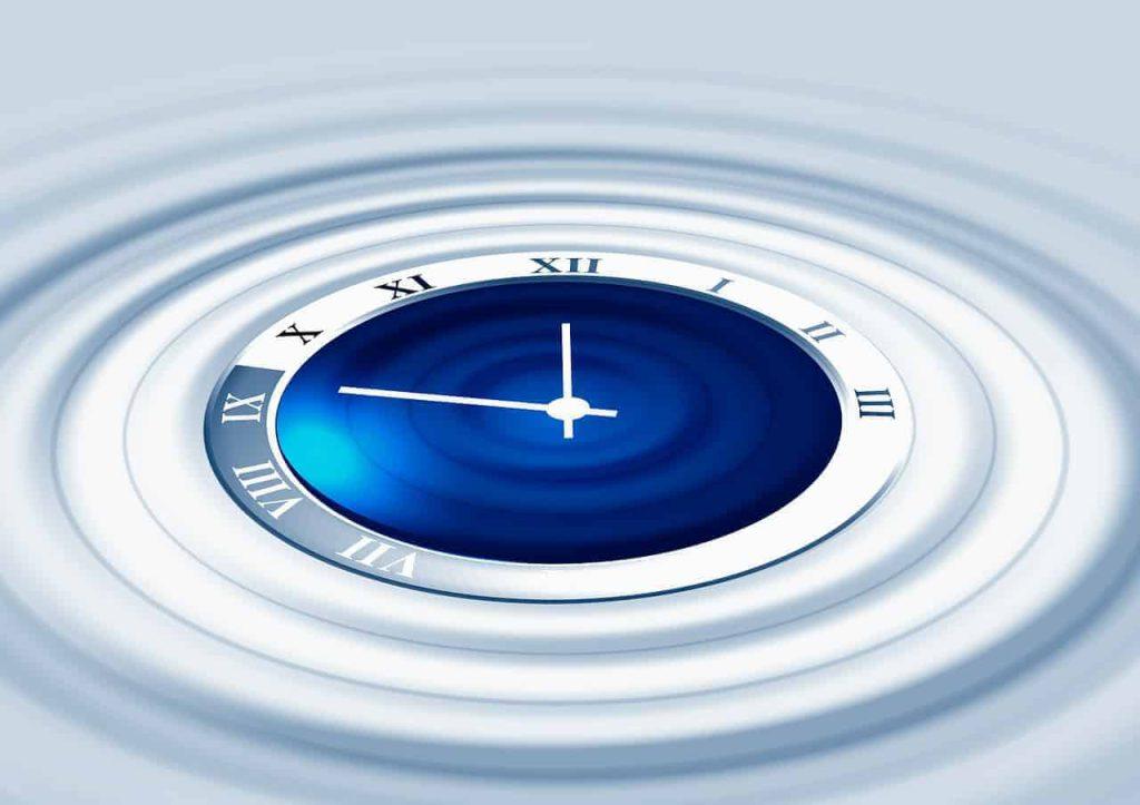clock representing time