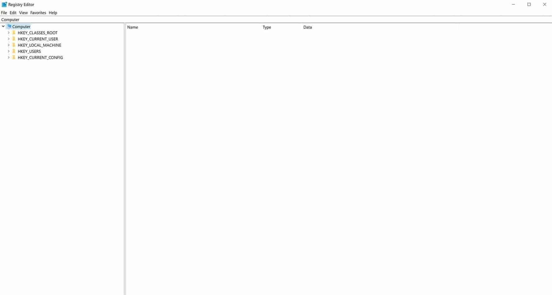 new registry window
