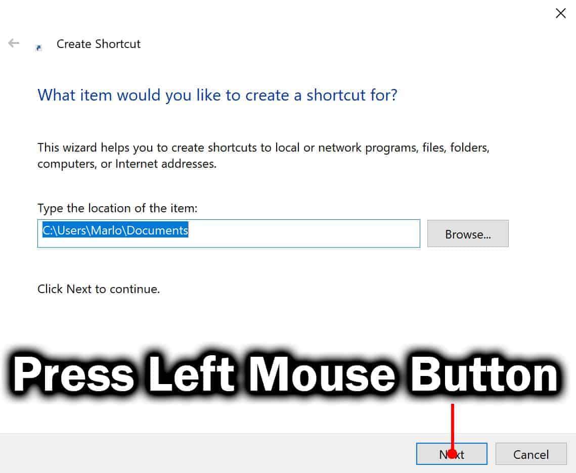press next button