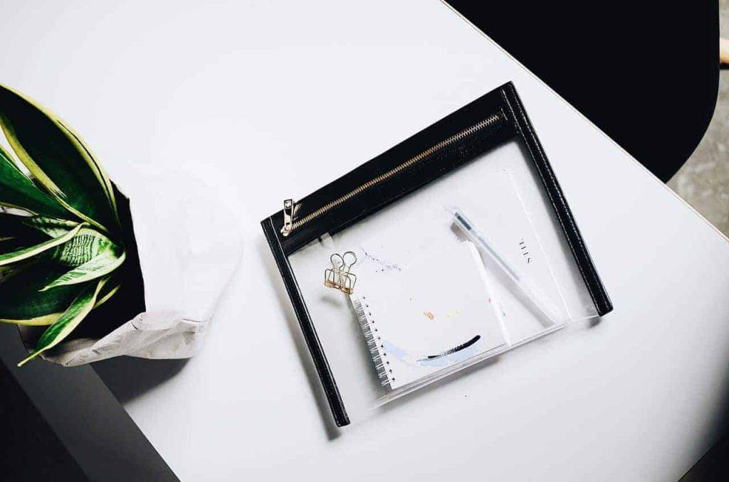 zip folder on table