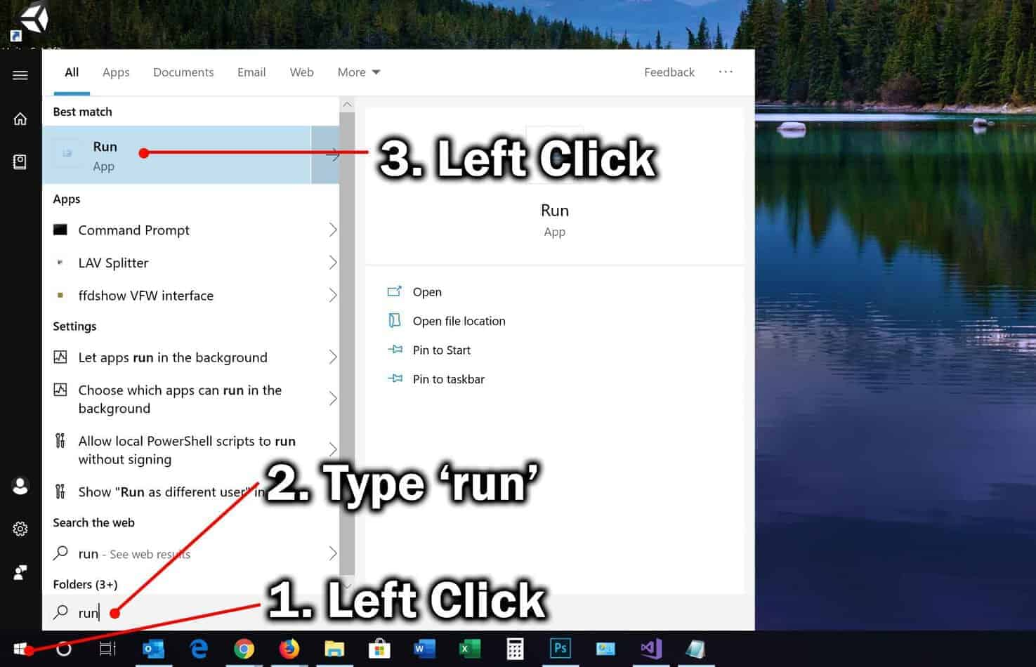How to Open the Run Command Box in Windows 10 2