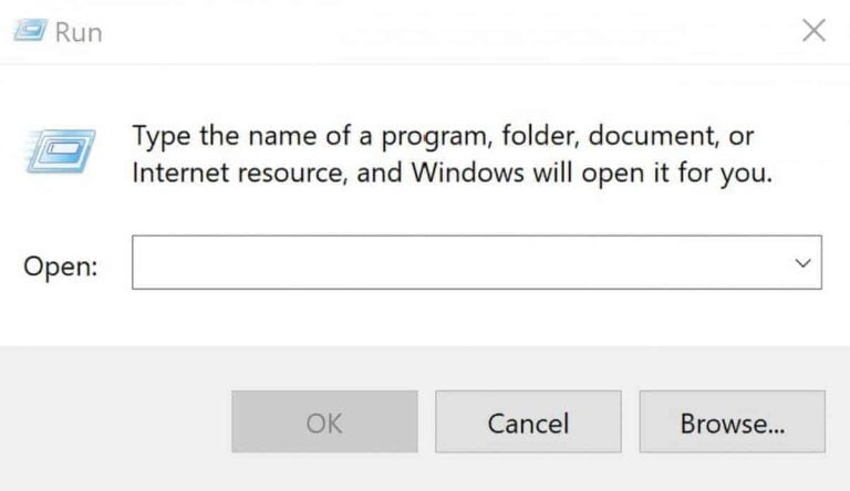 How to Open the Run Command Box in Windows 10
