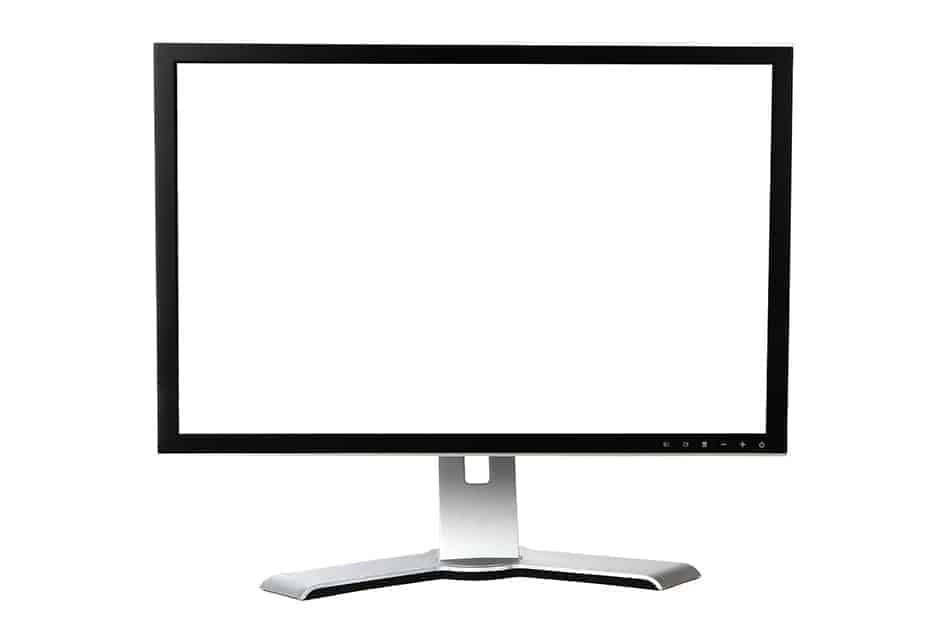 computer monitor with a blank screen