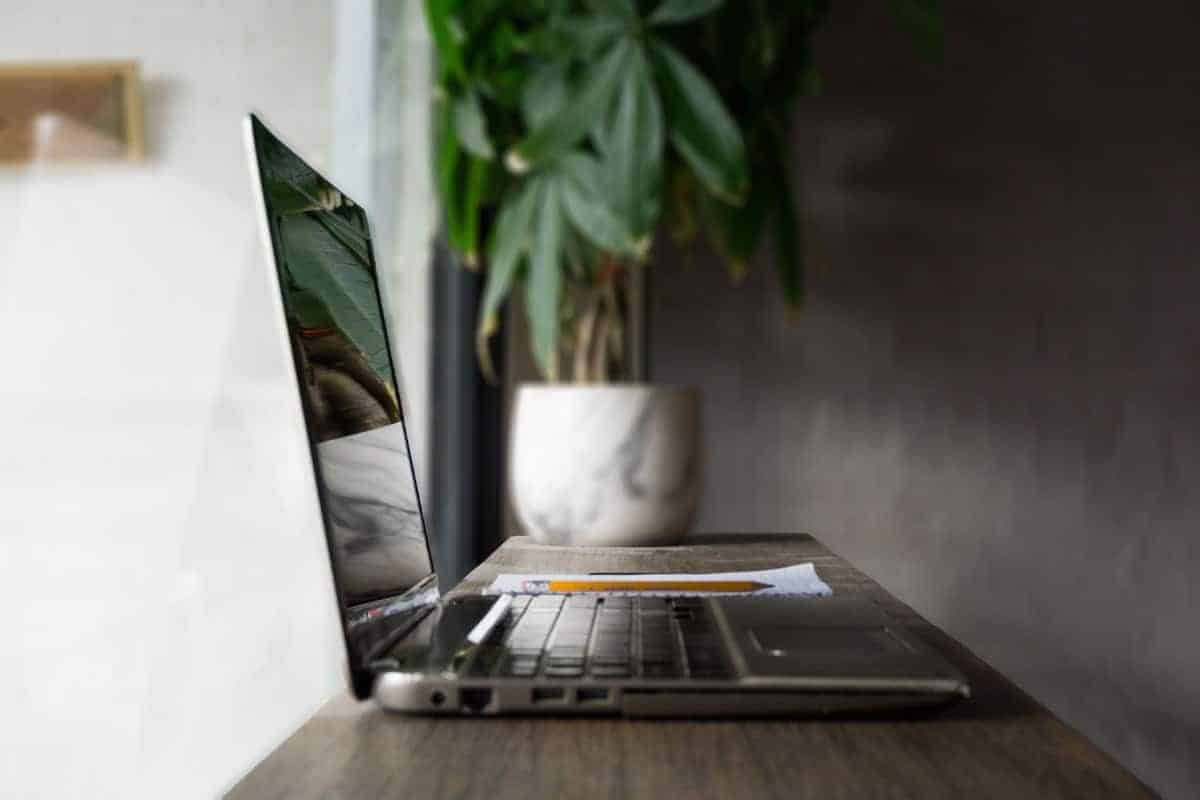 laptop on a flat surface to reduce heat