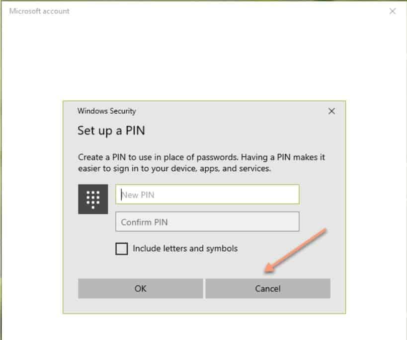 re-enter pin