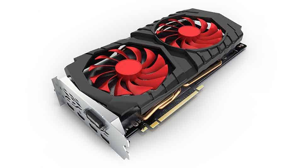graphics card with two fans