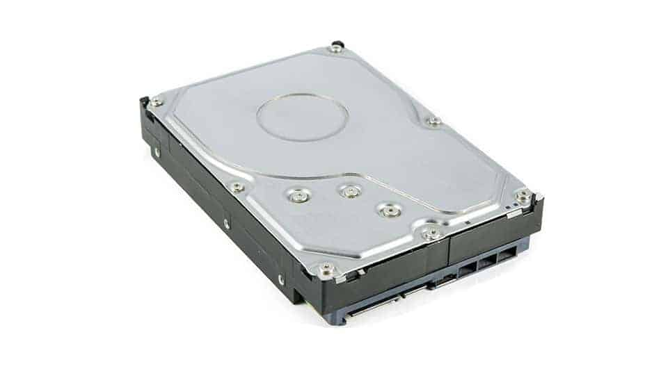 a mechanical hard disk drive or HDD