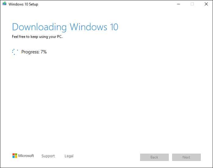 windows is downloading