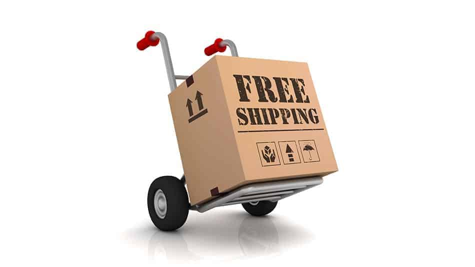 free shipping box on dolly