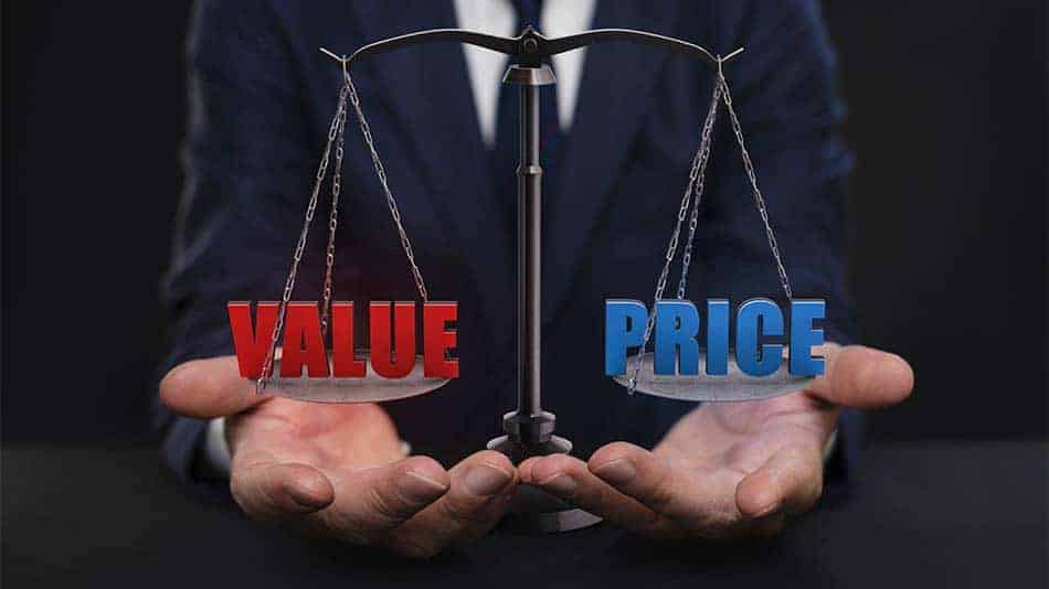 weighing up price vs value