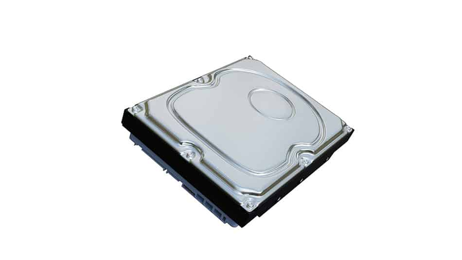 a mechanical hard disk drive